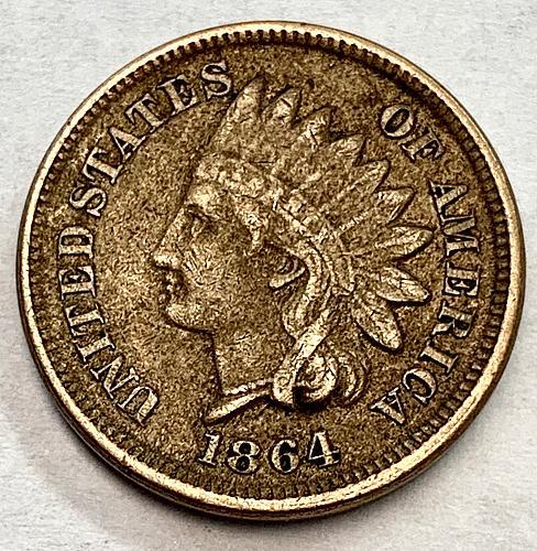 1864 Indian Head Cent - Copper Nickel