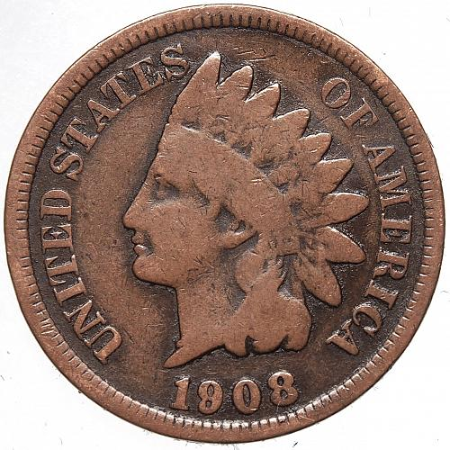 1908 P Indian Head Cent #59