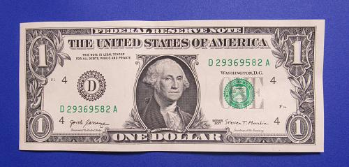 2017 $1 US Banknote - D Seal - Bank of Cleveland Ohio - Crisp Uncirculated