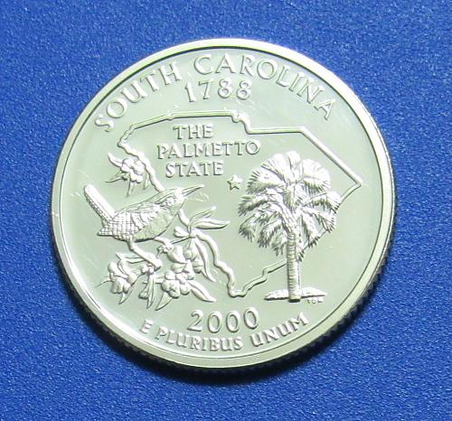 2000-S 1 Cent - South Carolina State Quarter - Silver Proof