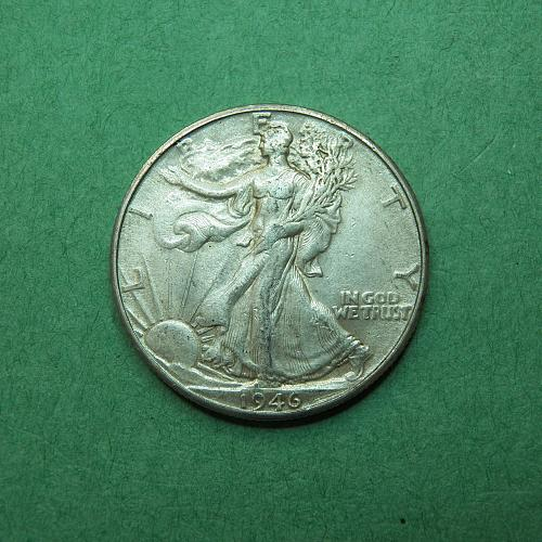 1946 D Walking Liberty Half Dollar Extra Fine Coin t99