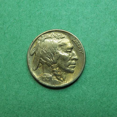 1921 P Buffalo Nickel Almost Uncirculated Coin   u06