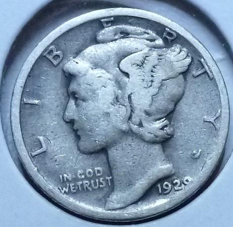 1923-P Very Good Mercury Dime   ( 400)