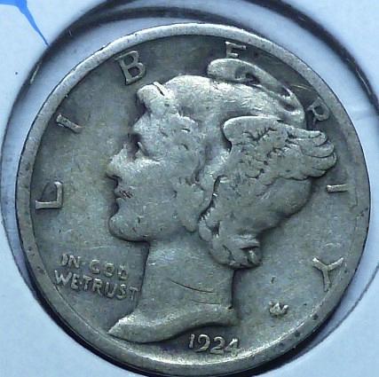 1924-P Very Fine Mercury Dime   ( 405)
