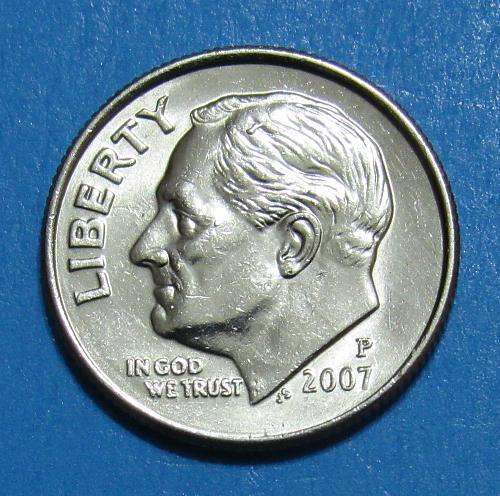 2007-P 10 Cents - Roosevelt Dime
