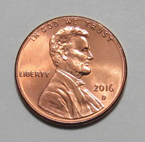 2016-D 1 Cent - Lincoln Shield Cent