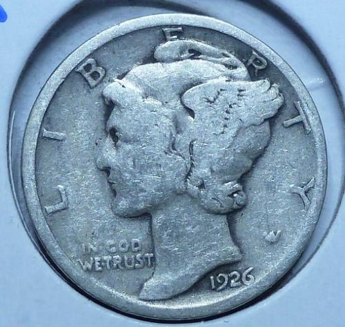 1926-D Very Good Mercury Dime   ( 410)