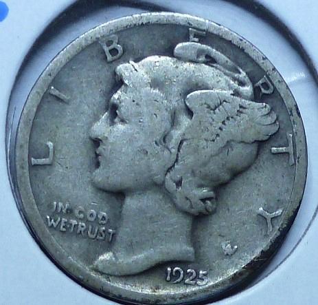 1925-D Very Fine Mercury Dime   ( 411)