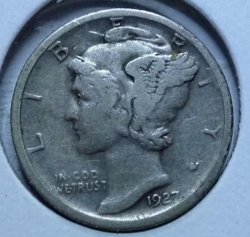 1927-S Very Fine Mercury Dime   ( 422)