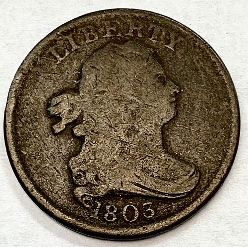 1803 Draped Bust Half Cent - Normal Date