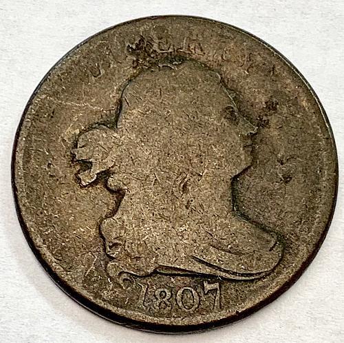 1807 Draped Bust Half Cent