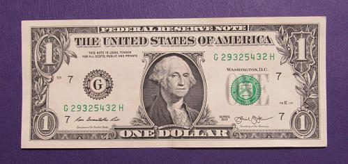 2013 $1 US Banknote - G Seal Chicago Illinois - Almost Uncirculated