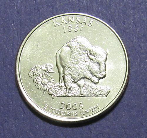 2005-D 25 Cents - Kansas State Quarter
