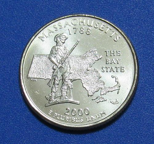 2000-P 25 Cents Massachusetts State Quarter