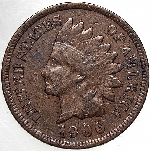 1906 P Indian Head Cent #62