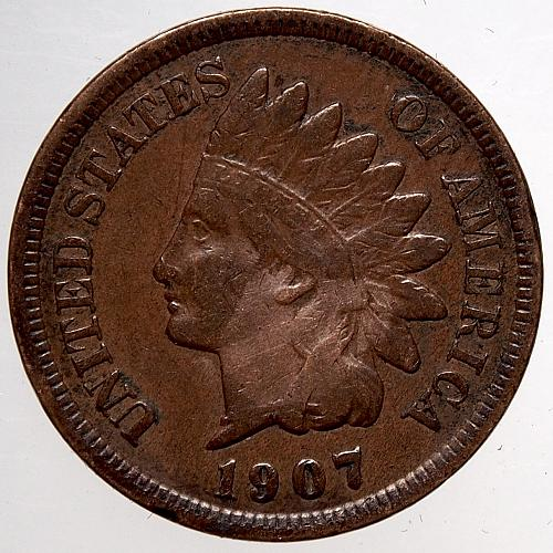 1907 P Indian Head Cent #46