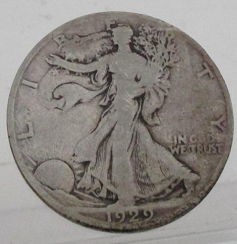 1929 S Walking Liberty Half Dollar