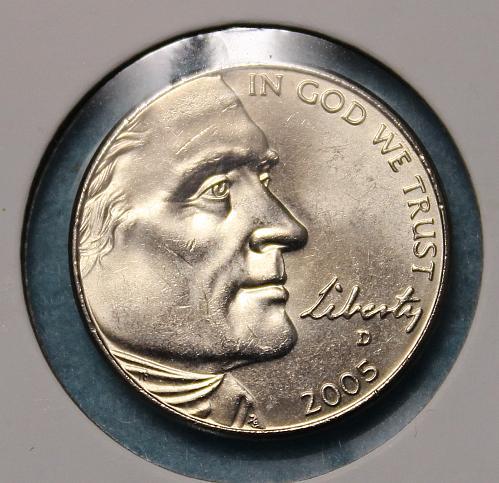 2005 D Jefferson Nickels: American Bison