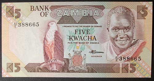 Zambia P25d 5 Kwachas UNC63
