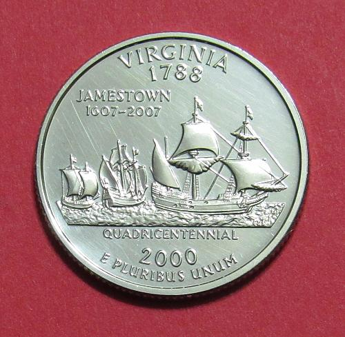 2000-S 25 Cents - Virginia State Quarter - SILVER PROOF