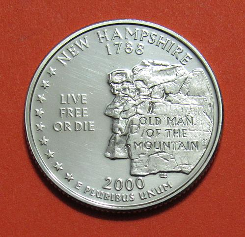 2000-S 25 Cents - New Hampshire State Quarter - SILVER PROOF