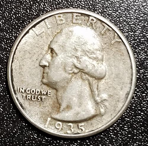 1935 Silver Washington Quarter
