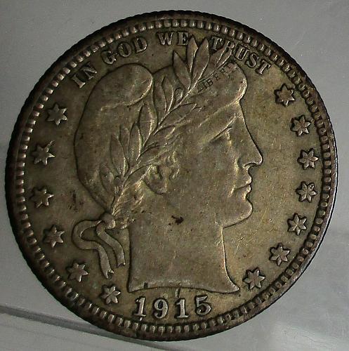 1915 P Barber Quarter