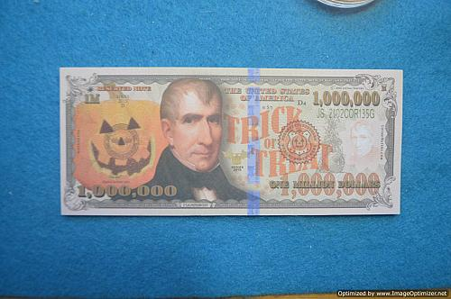 Novelty currency bills with Religious verse on back. (NOT REAL MONEY)