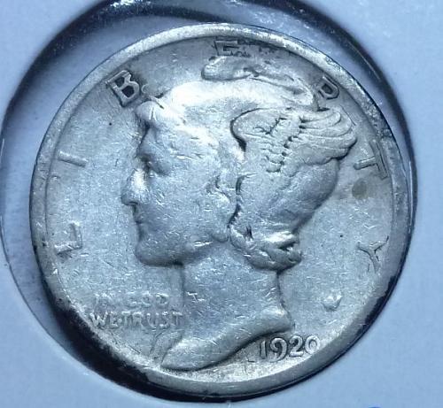 1920-D Fine Mercury Dime   ( 578 )