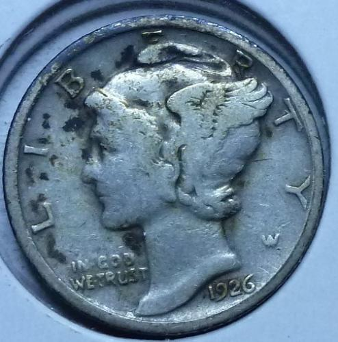 1926-D Fine Mercury Dime   ( 585 )