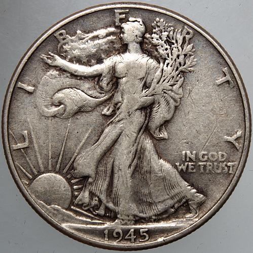 1945 P Walking Liberty Half Dollar #7