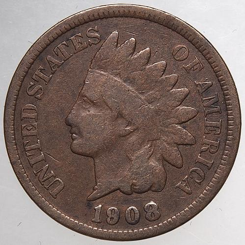 1908 P Indian Head Cent #61