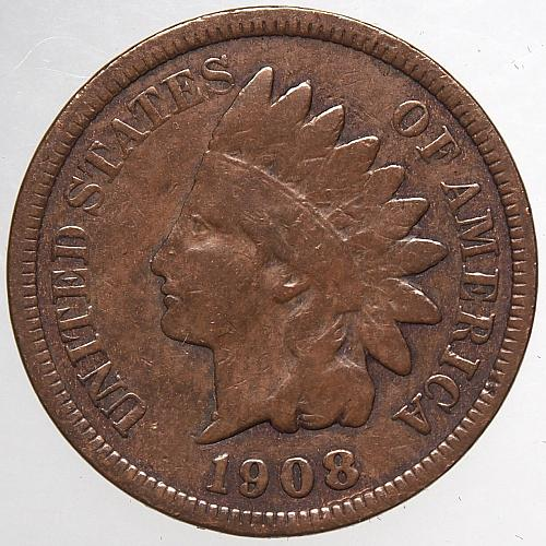 1908 P Indian Head Cent #62