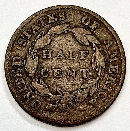 1826 Classic Head Half Cent