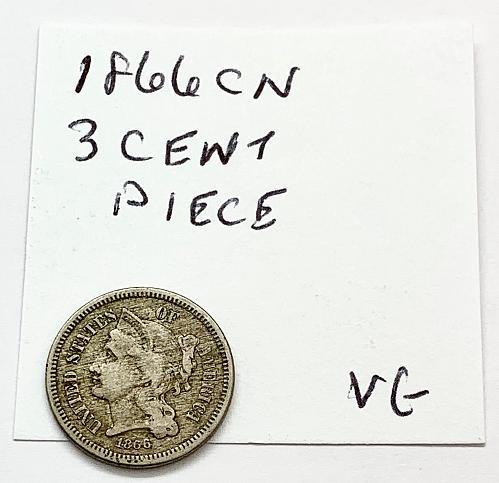1866 CN Three Cent Piece