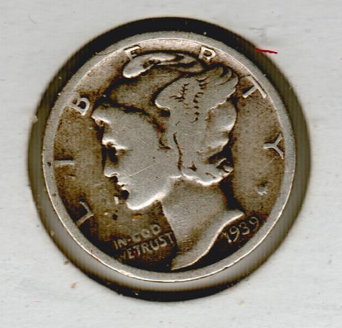 1939 Mercury Dime - #4