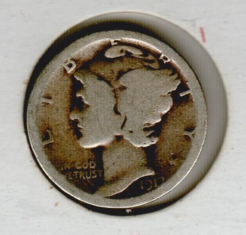 1917 S Mercury Dimes - #4