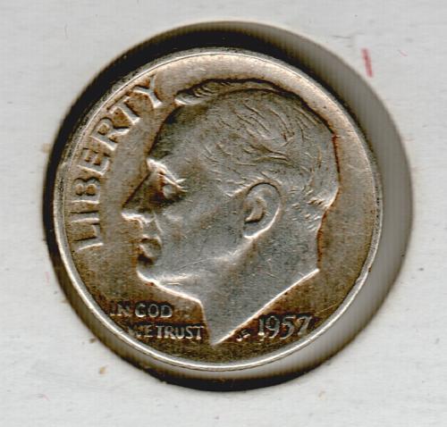 1957 D Roosevelt Dimes