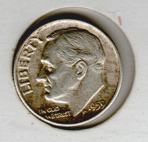 1959d BU Roosevelt Dime - #4
