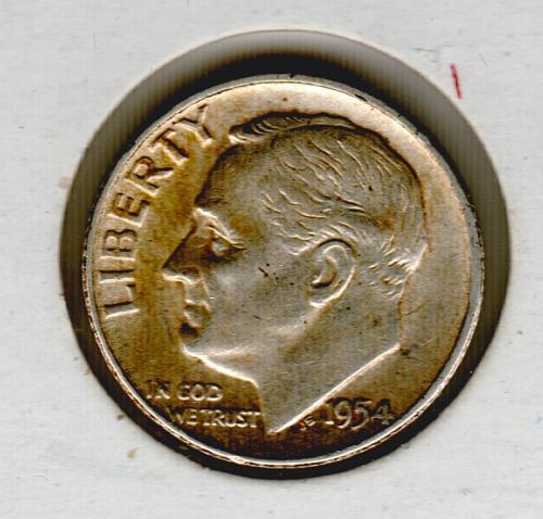 1954p BU Roosevelt Dime - #4