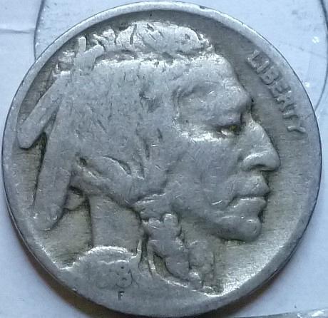 1918-P Grades Very Good Buffalo Nickel Coin ( 207)