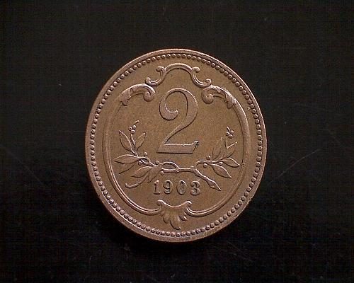 1903 AUSTRIA TWO HELLER