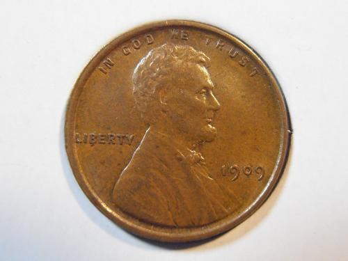 1909 VDB Lincoln Cent, Attractive better grade coin (09VDB1)