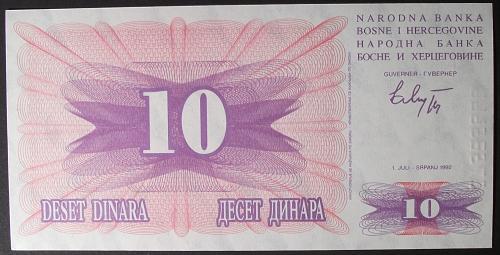 Bosnia-Herzegovina P10a 10 Dinara UNC64