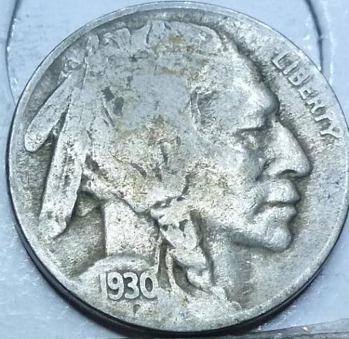 1930-S Grades Very Good Buffalo Nickel Coin ( 402)