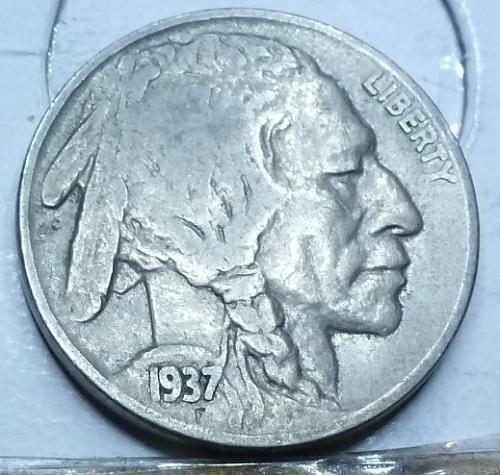 1937-D Grades VERY FINE Buffalo Nickel Coin ( 41)