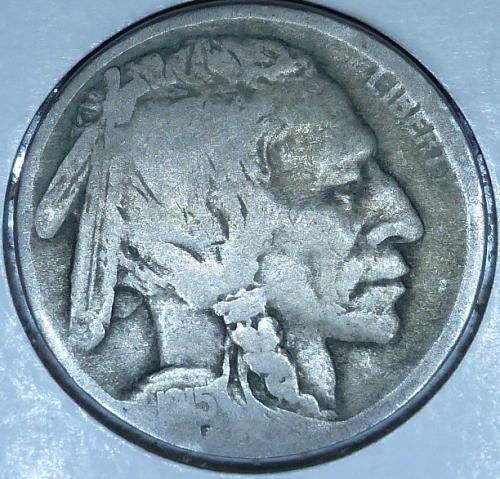 1915-D Grades Very Good Buffalo Nickel Coin ( 204)