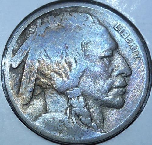 1916-P Grades FINE Buffalo Nickel Coin ( 209)