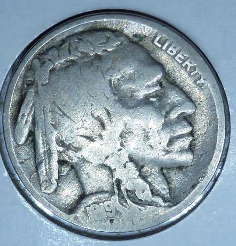 1919-S Grades Very Good Buffalo Nickel Coin ( 208)