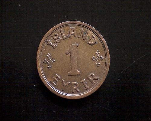 "1940 ICELAND ONE EYRIR  ""WORLD WAR 11"""